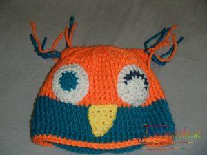 eulenhaube-002 Haube Mütze Eule
