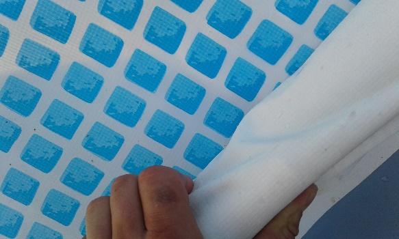 Intex framepool abbauen luftmasche creatives handarbeiten for Poolfolie kleben