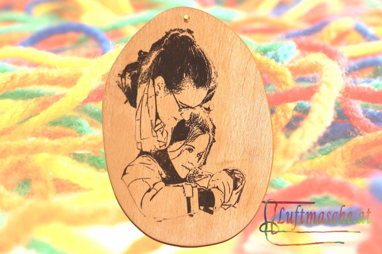 Holzbild mit Foto Potch
